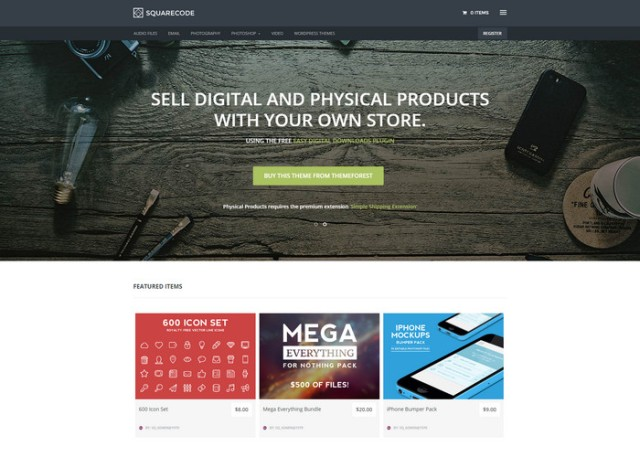 squarecode Affiliate Marketing WordPress Themes