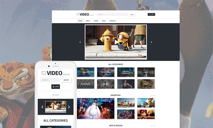 Video Blog WordPress Theme : Small Business Themes