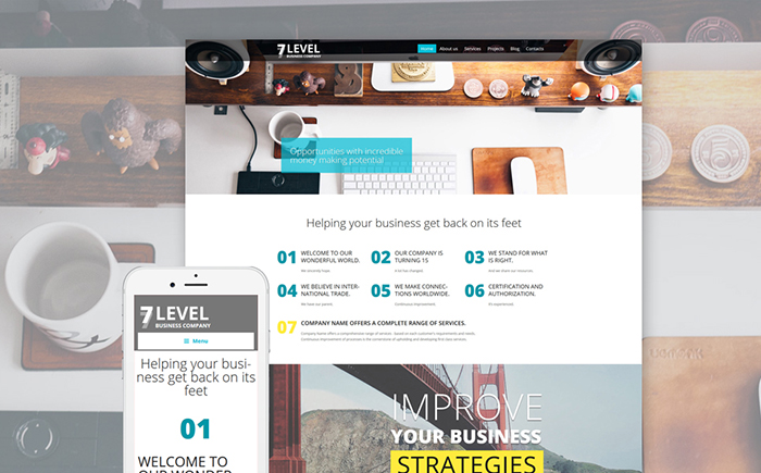 Business Company WordPress Template