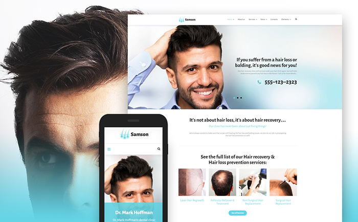 Hair Salon WordPress template