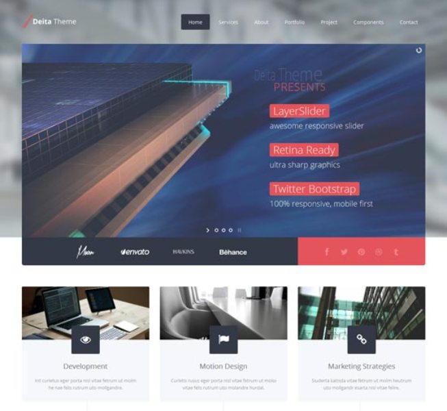 25 Best Flat Design Website Templates Web Design Click