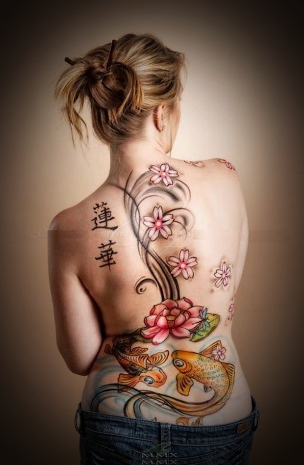 Top sexy back tattoos for women
